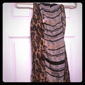 Juicy couture leopard print infinity scarf